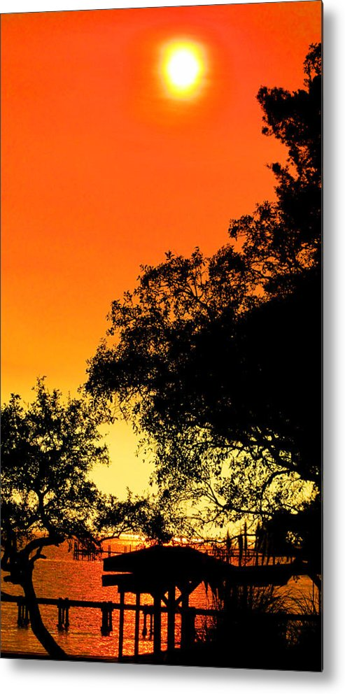 Sun Metal Print featuring the photograph Evening Fire by Nicole I Hamilton