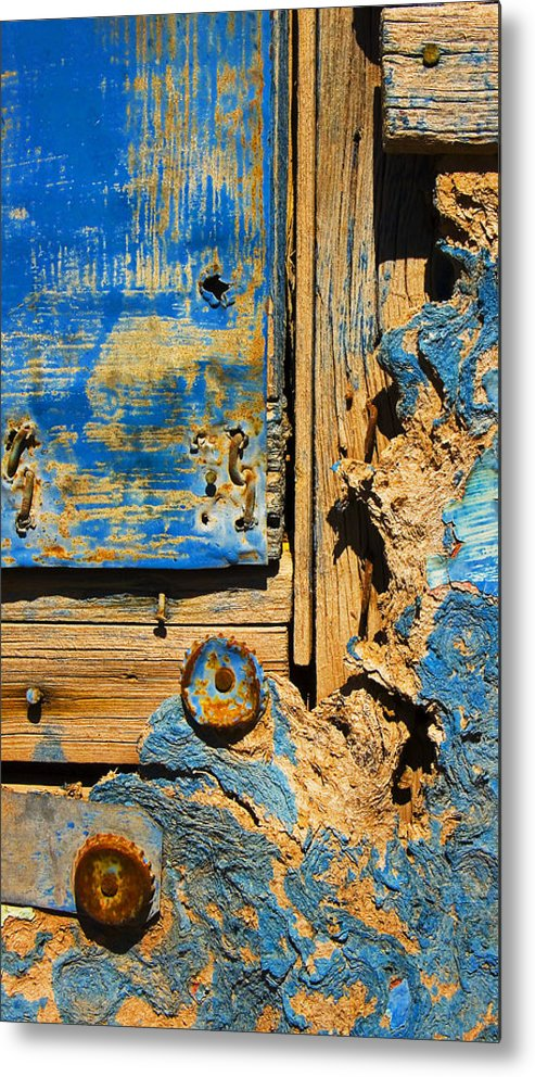 Abstract Metal Print featuring the photograph Blues Dues by Skip Hunt