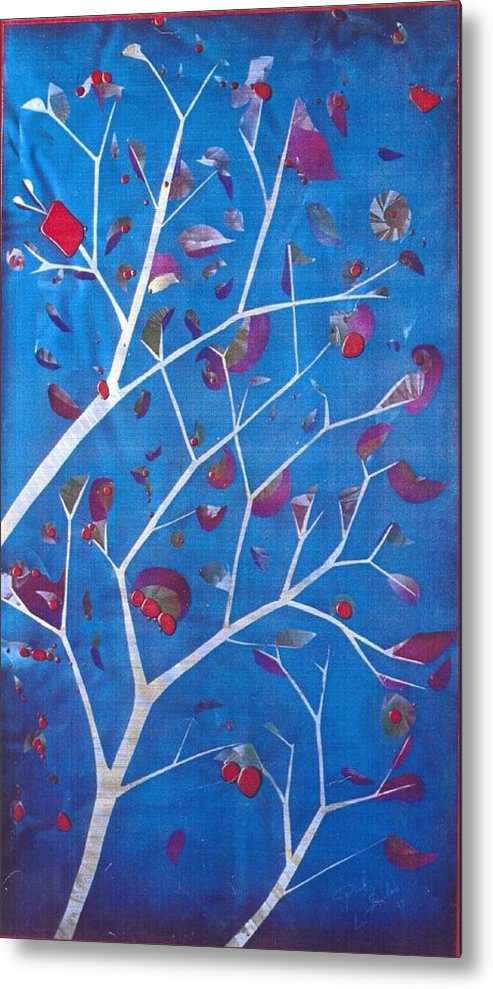Winter Metal Print featuring the painting Winter Tree by Rick Silas