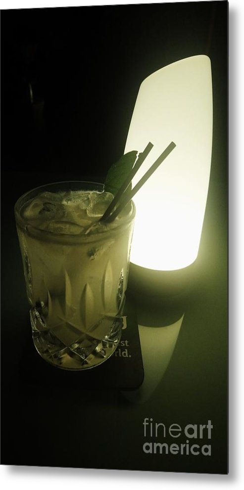 Drinks Metal Print featuring the photograph Lime On Fire by Philip