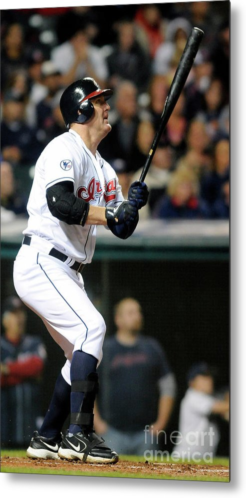 American League Baseball Metal Print featuring the photograph Jim Thome by Jason Miller