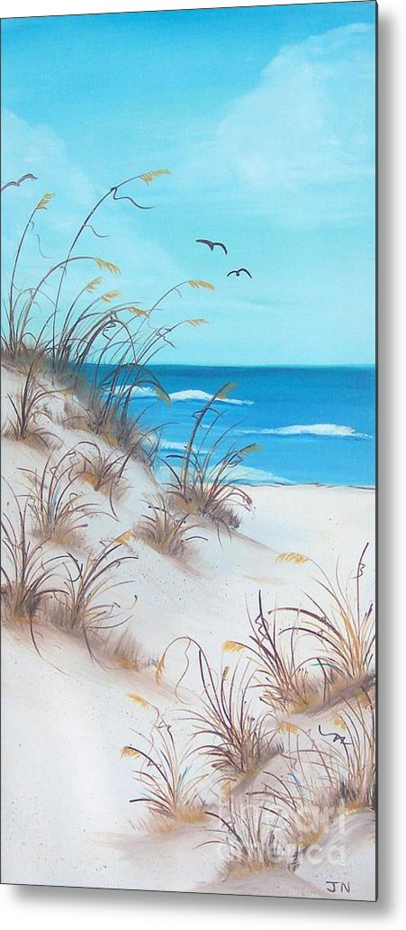 Oil Metal Print featuring the painting Dunes Day by JoNeL Art