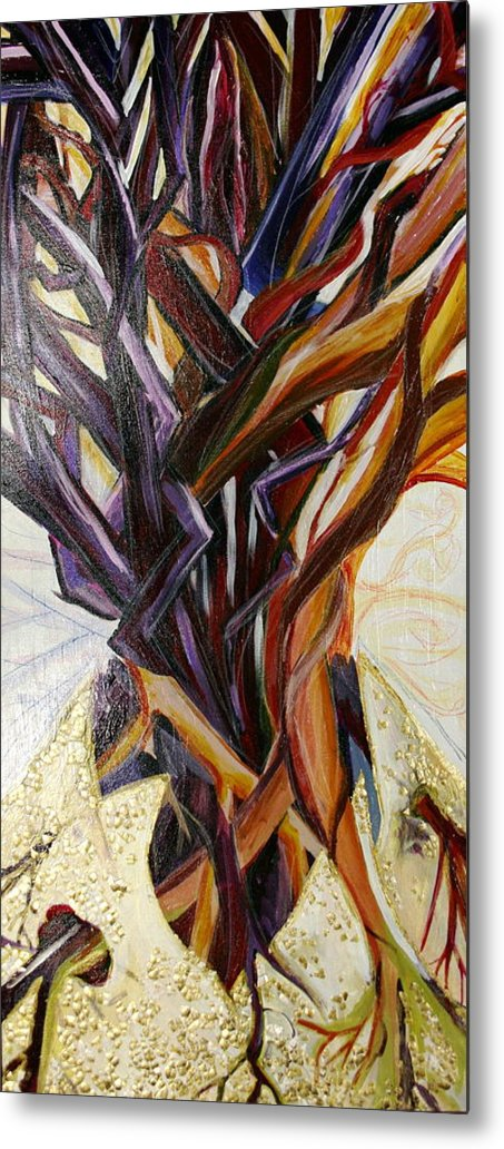 Apple Metal Print featuring the painting Fifth World Three by Kate Fortin