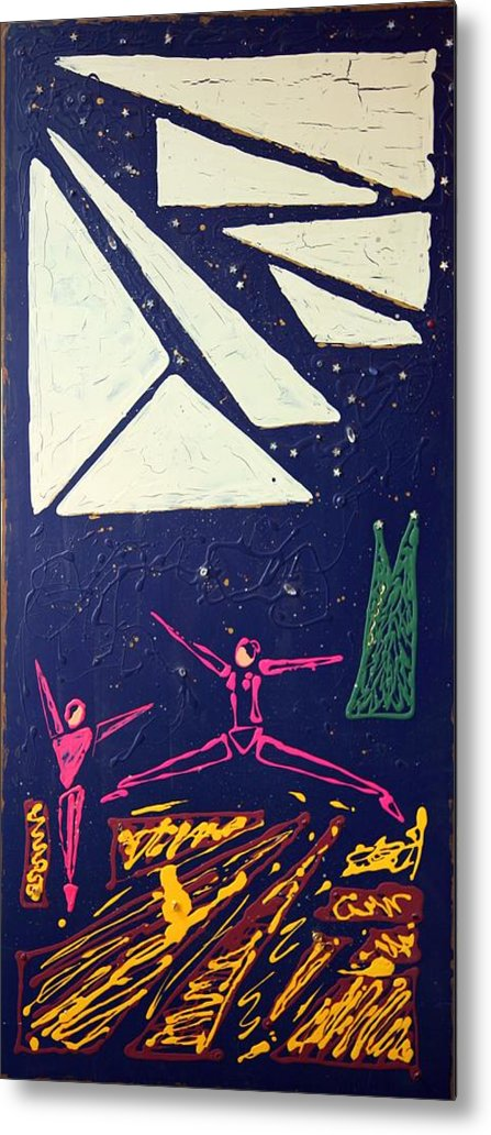 Dancers Metal Print featuring the mixed media Dancing Under The Starry Skies by J R Seymour