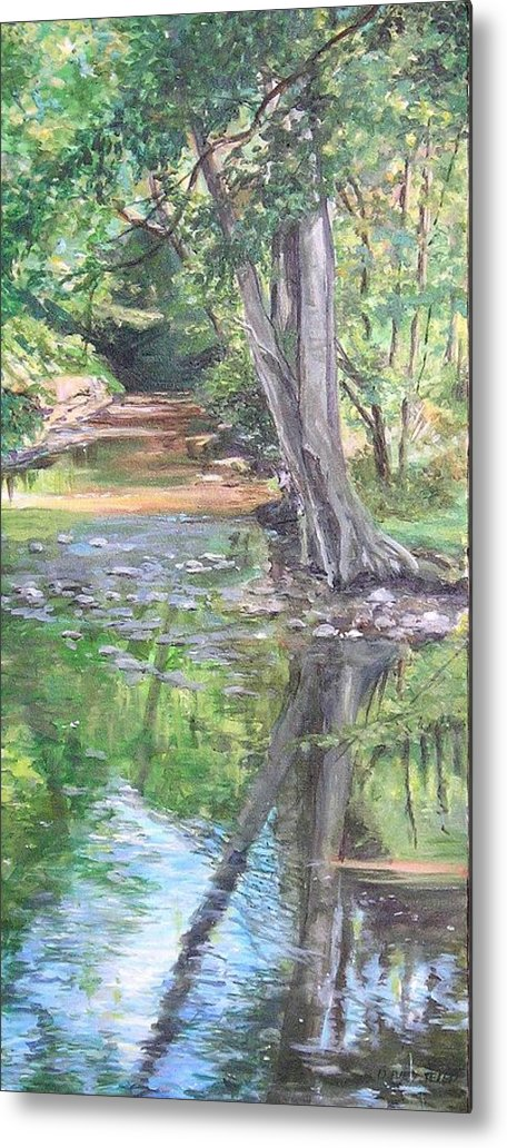 Creek Metal Print featuring the painting French Creek by Denise Ivey Telep