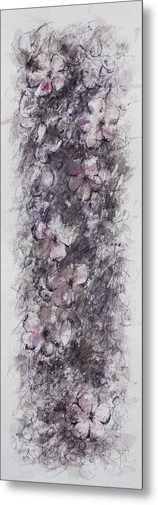 Floral Metal Print featuring the painting floral cascade II by William Russell Nowicki