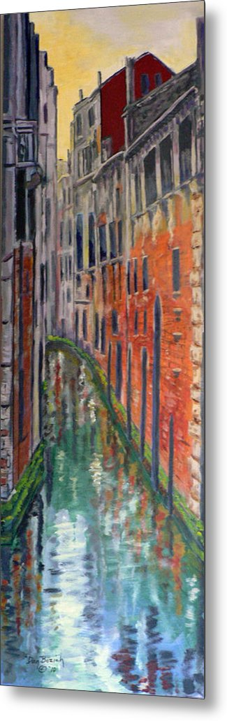Venice Canal Metal Print featuring the painting Back Alley by Dan Bozich