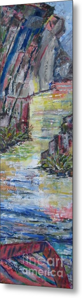 River Metal Print featuring the painting The Gorge by Judith Espinoza