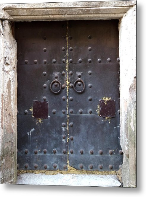 Arch Metal Print featuring the photograph Medieval Door by ????? ???????