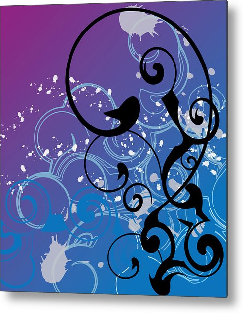 Abstract Metal Print featuring the digital art Abstract Swirl by Mellisa Ward