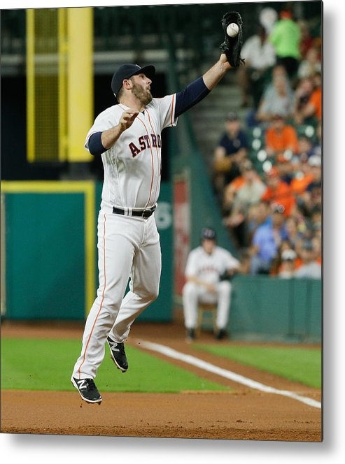 People Metal Print featuring the photograph Cleveland Indians v Houston Astros by Bob Levey