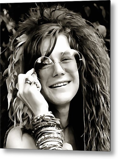 Janis Joplin Metal Print featuring the digital art Janis by Dan Sproul