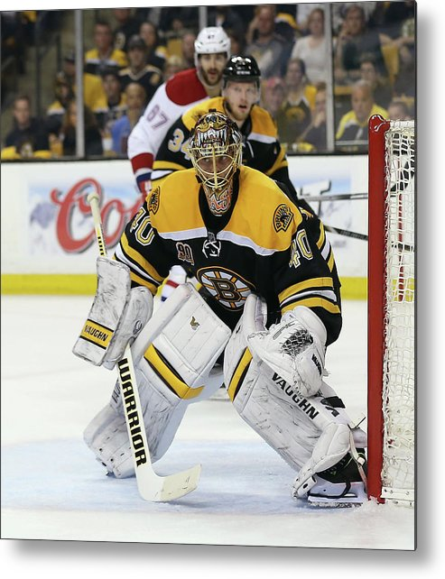 Playoffs Metal Print featuring the photograph Montreal Canadiens V Boston Bruins - by Bruce Bennett