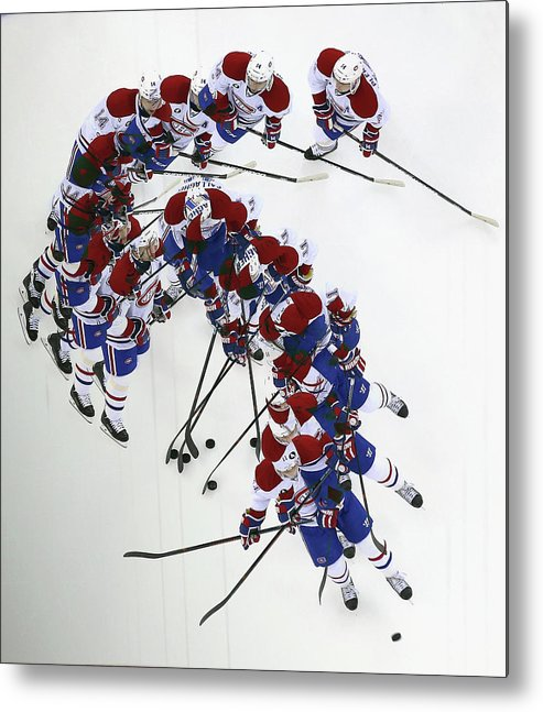 Brendan Gallagher Metal Print featuring the photograph Montreal Canadiens V New Jersey Devils by Bruce Bennett