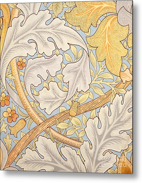 St James Metal Print featuring the painting St James Wallpaper Design by William Morris