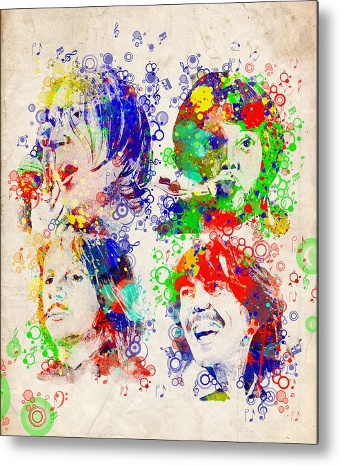 Beatles Metal Print featuring the painting The Beatles 5 by Bekim M