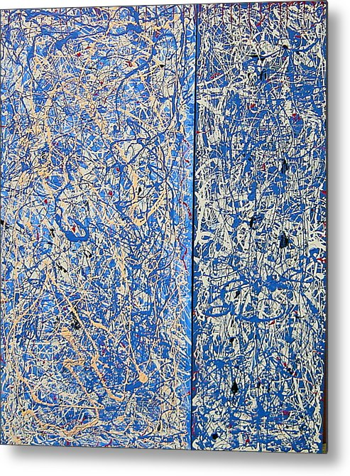 Color And Movement Metal Print featuring the painting Blue mood by Biagio Civale