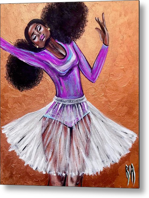 Ballerina Metal Print featuring the painting Breathtaking moments by Artist RiA