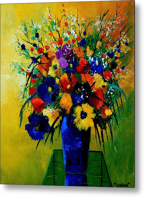 Poppies Metal Print featuring the painting Bunch 0508 by Pol Ledent
