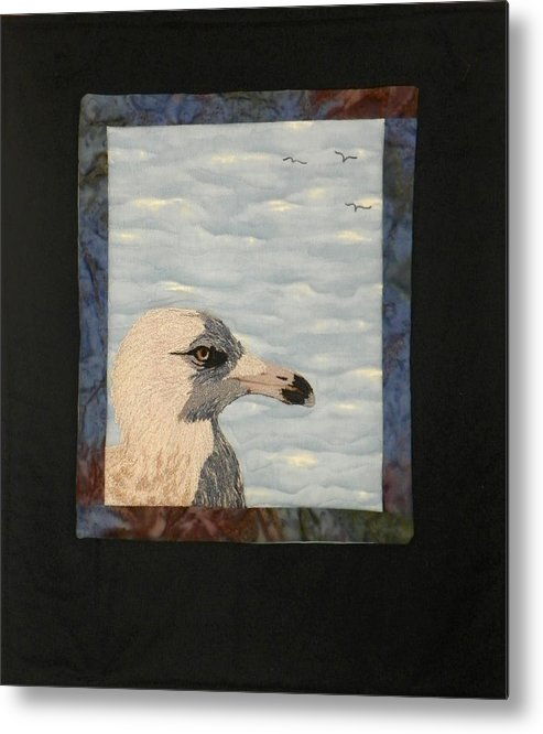 Birds Metal Print featuring the tapestry - textile Eye Of The Gull by Jenny Williams