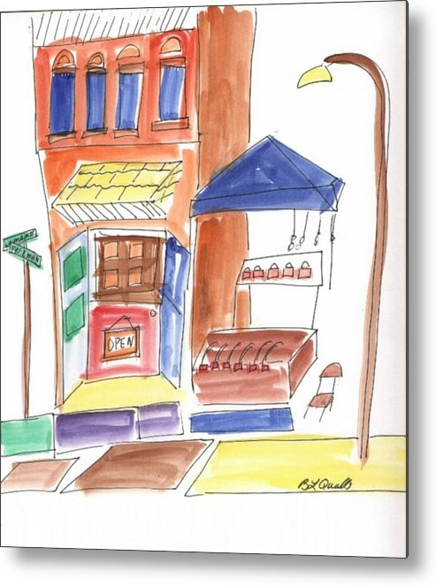 Festival Metal Print featuring the painting Festival in the City 6 by B L Qualls
