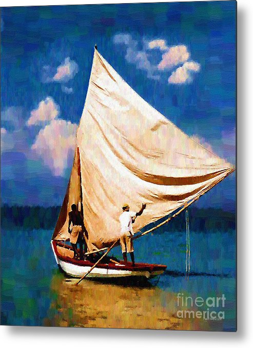 Diane Berry Metal Print featuring the painting Gentle Winds by Diane E Berry