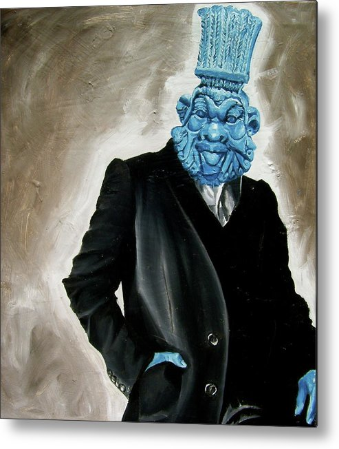 God Metal Print featuring the painting God by Laura Pierre-Louis