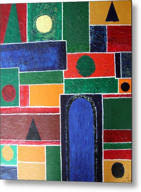 Abstract Metal Print featuring the painting K 1 by Vijayan Kannampilly