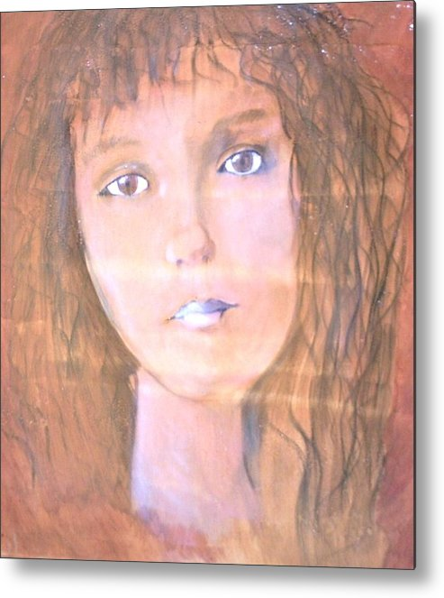 Woman Metal Print featuring the painting Katarina by J Bauer
