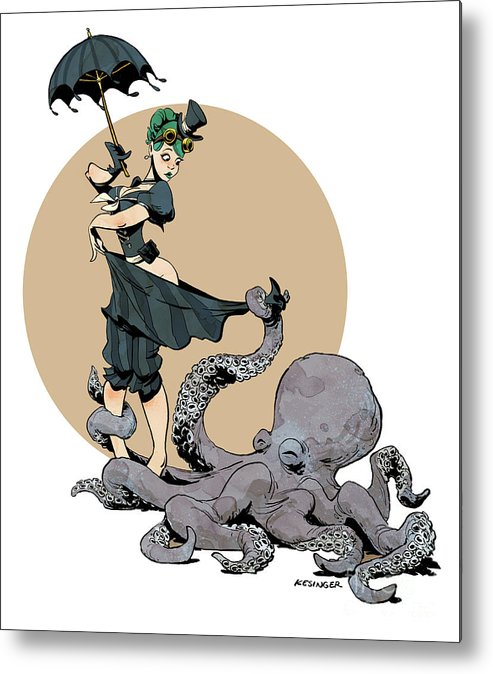 Octopus Metal Print featuring the digital art Otto By The Sea by Brian Kesinger