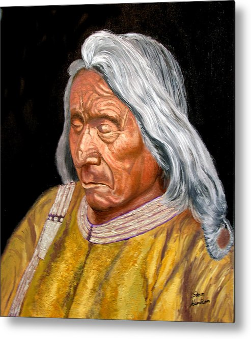 Red Cloud Metal Print featuring the painting Red Cloud by Stan Hamilton