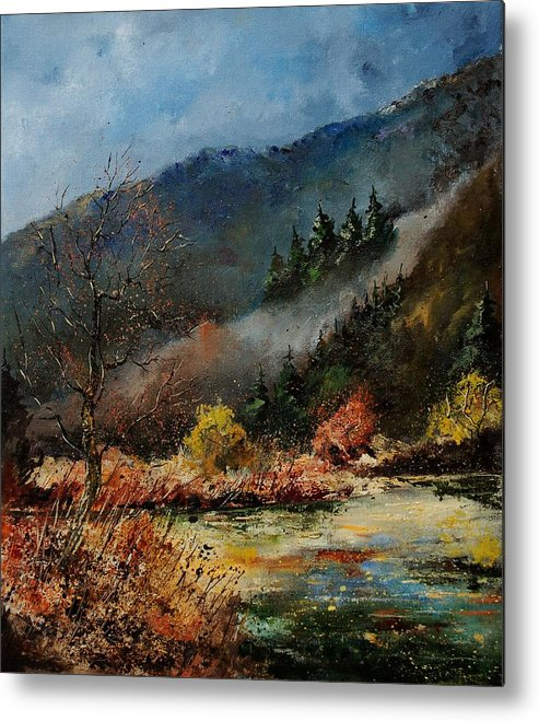 River Metal Print featuring the painting River Semois by Pol Ledent