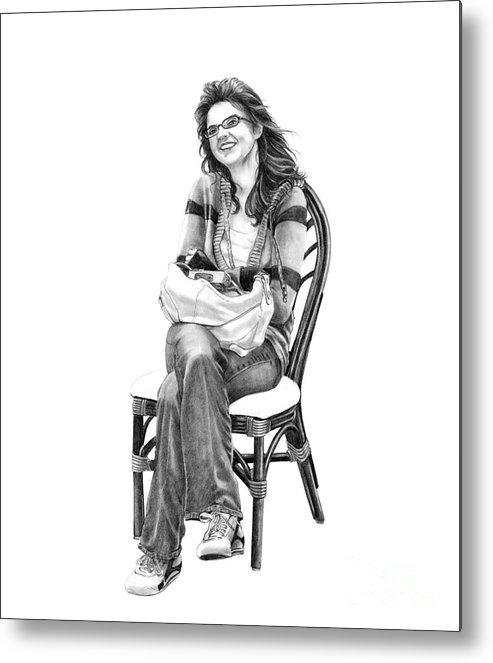Figure Drawing Metal Print featuring the drawing Samantha Jonice Elliott by Murphy Elliott