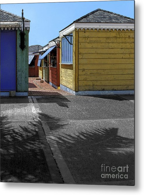 Shutters Metal Print featuring the photograph Shutters II by Katherine Morgan