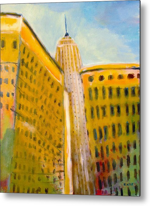 Abstract Cityscape Metal Print featuring the painting View From The 33 St by Habib Ayat