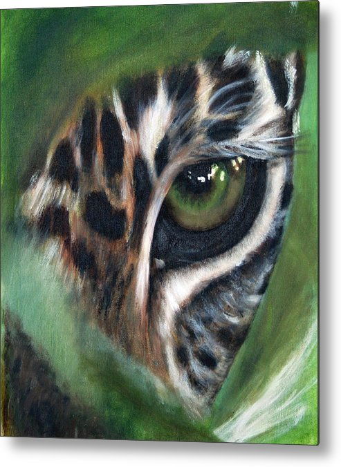 Animals Metal Print featuring the painting Watching you watching me by Fiona Jack