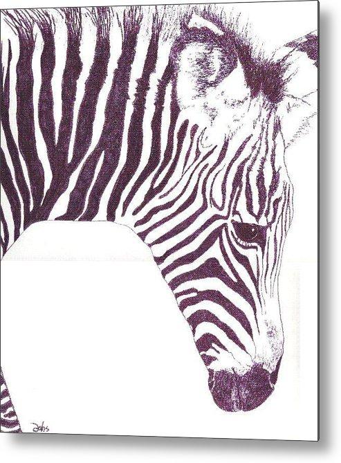 Zebra Metal Print featuring the painting Zebra Colt by Debra Sandstrom