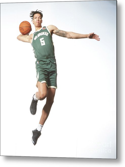 Nba Pro Basketball Metal Print featuring the photograph Rookie Photo Shoot 2017 by Nathaniel S. Butler