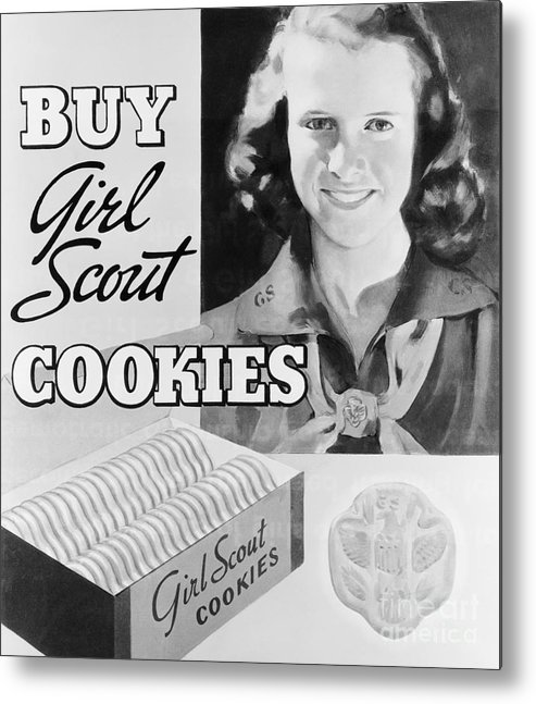 Child Metal Print featuring the photograph Advertisement Poster For Girl Scout by Bettmann