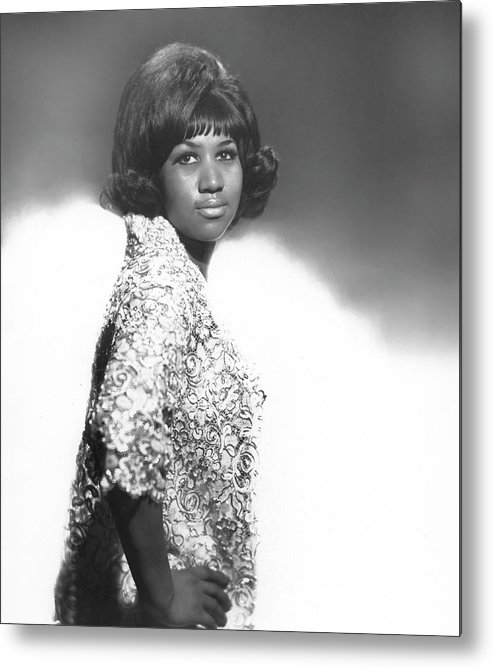 Singer Metal Print featuring the photograph Aretha Franklin Portrait by Michael Ochs Archives