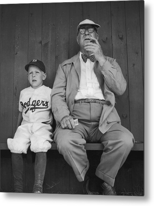 Timeincown Metal Print featuring the photograph Branch Rickey & Family by George Silk