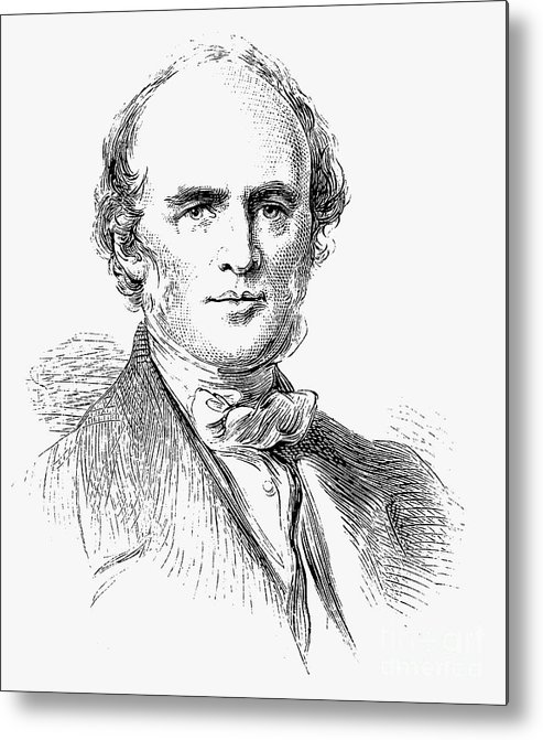 Engraving Metal Print featuring the drawing Charles Lyell, Scottish-born British by Print Collector