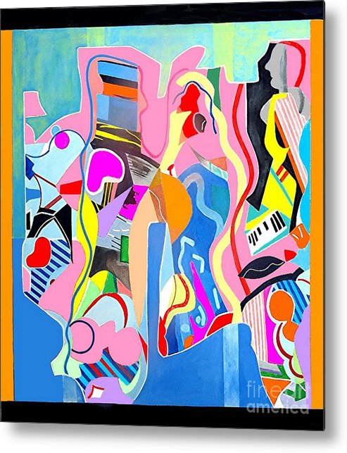 Active Metal Print featuring the painting Crowd Scene by Barron Holland