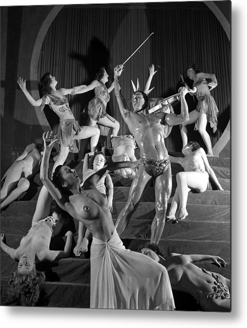 Music Metal Print featuring the photograph England. 1949. French Dance Troupe Les by Popperfoto