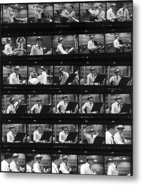 Singer Metal Print featuring the photograph Frames Of Frank by Hulton Archive