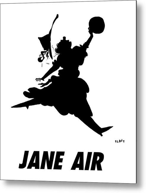 Jane Air Metal Print featuring the drawing Jane Air by Sara Lautman