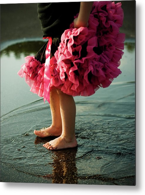 Toddler Metal Print featuring the photograph Little Girls Feet Splashing And Dancing by Ssj414