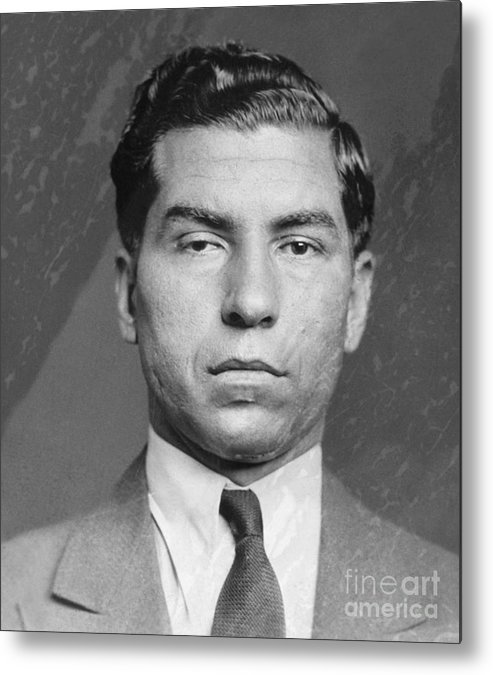 Gangster Metal Print featuring the photograph Lucky Luciano by Bettmann