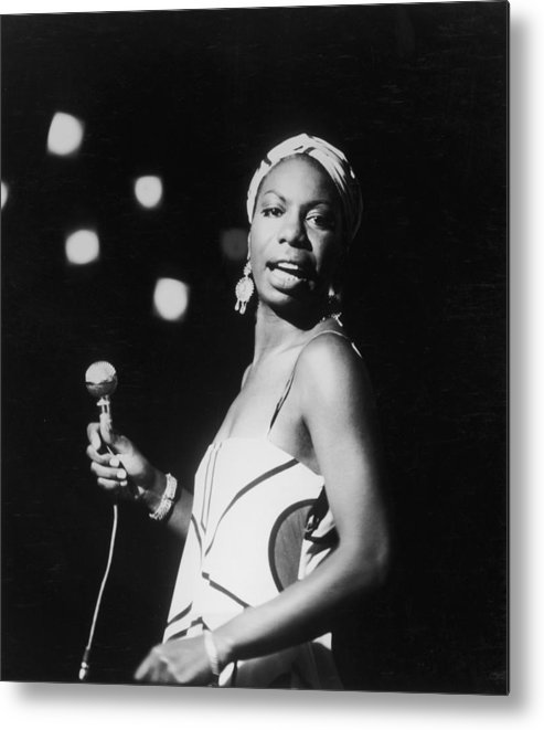 Nina Simone Metal Print featuring the photograph Nina In Concert by Hulton Archive