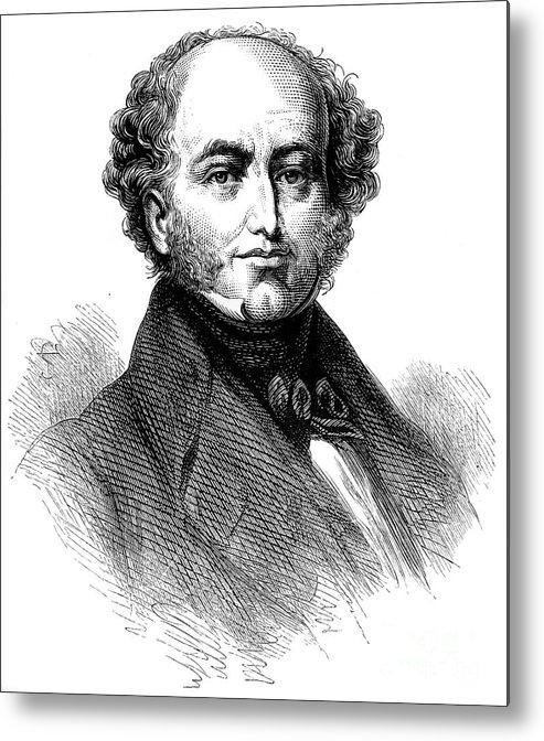 Engraving Metal Print featuring the drawing President Van Buren 1782-1862, American by Print Collector
